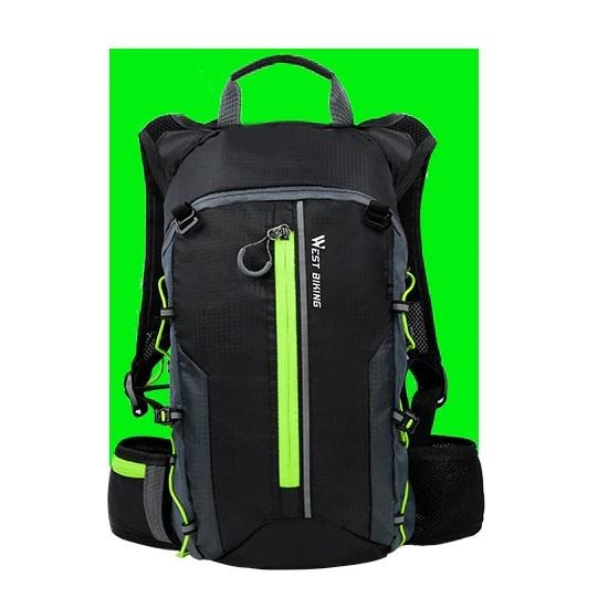 Ultralight 10L Cycling Backpack - Green+Water bag