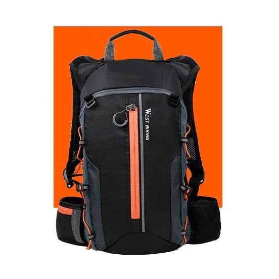 Ultralight 10L Cycling Backpack - Orange+Water bag