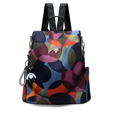 Women's Anti-Theft Backpack - Flower color - 127808008