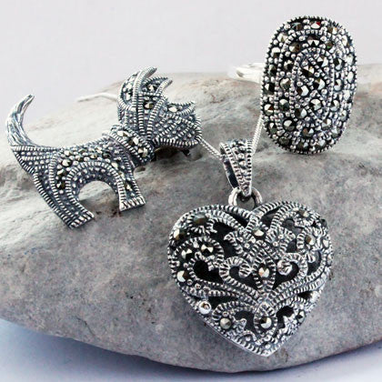 Vintage Style Marcasite Jewellery Collection at Uneak