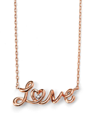 Rose Gold Love Necklace with Cubic Zirconia