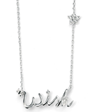 Wish Upon a Star Silver Necklace with Cubic Zirconia