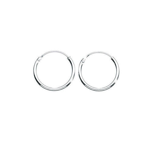 10mm Sterling Silver Hoop Earrings