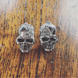 Island Crystal Skull Earrings