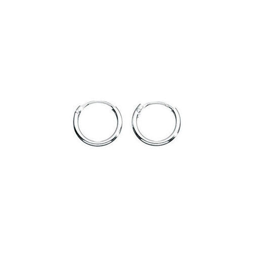 8mm Sterling Silver Hoop Earrings