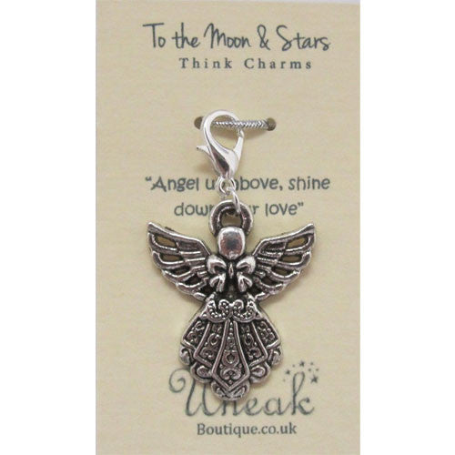 Silver Plated Angel Wings Clip Charm