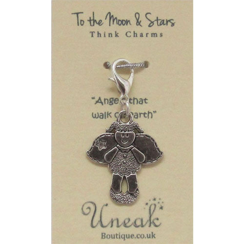 Silver Plated Angels on Earth Clip Charm