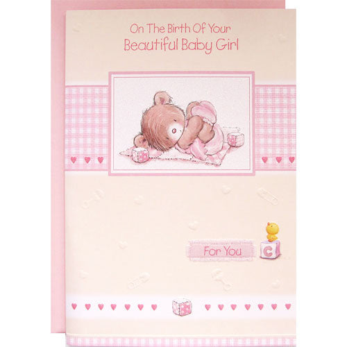On The Birth Of Your Beautiful Baby Girl Card