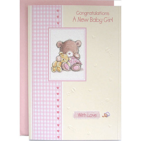 Congratulations A New Baby Girl Card