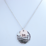 Be Brave Silver and Rose Gold Plated Pendant