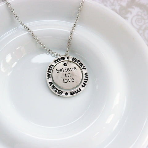 Believe in Love Silver Plated Pendant