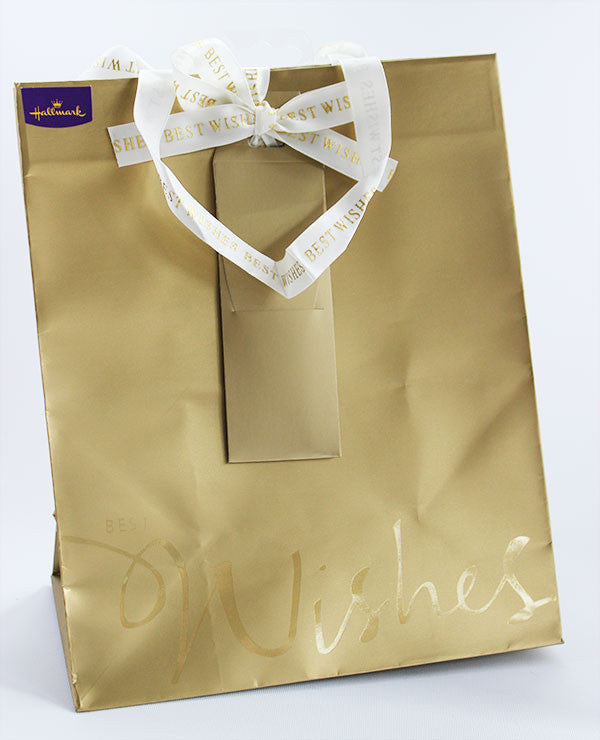 Gold Best Wishes Gift Bag