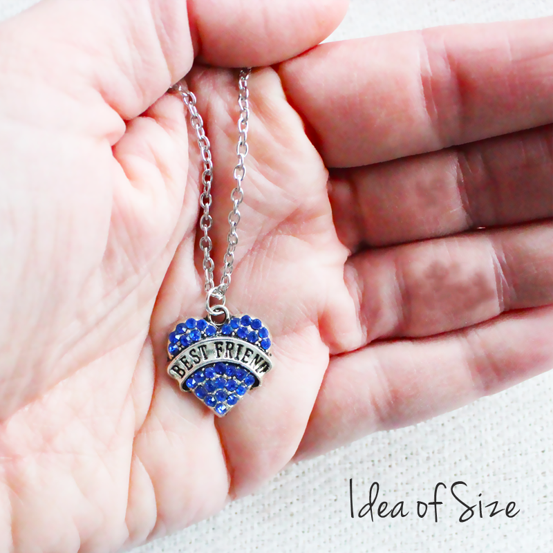 Buy blue crystal heart best friend pendant for 7 uneak boutique blue crystal heart best friend pendant blue crystal heart best friend pendant aloadofball Images