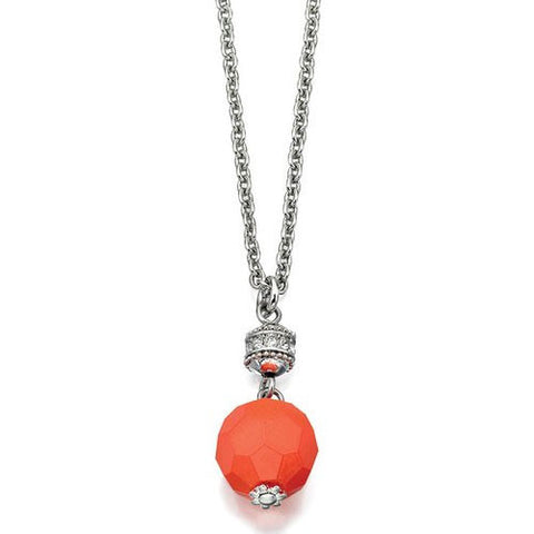 Boho Bright Orange Bead Fiorelli Necklace