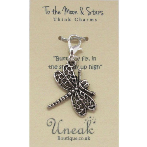 Silver Plated Butterfly Clip Charm