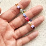 Candy Flowers Girls Crystal Bracelet