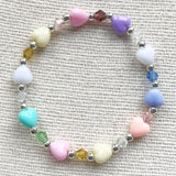 Candy Hearts Girls Crystal Bracelet