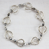 Circle of Hearts Crystal Handmade Bracelet