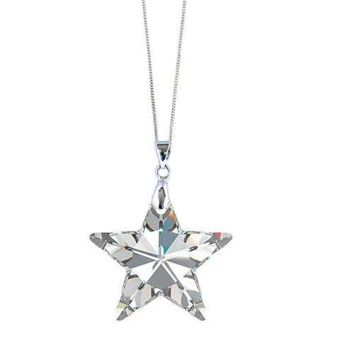 Clear Crystal Star Pendant by Love Lily