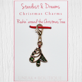 Stylised Rockin Christmas Tree Clip Charm
