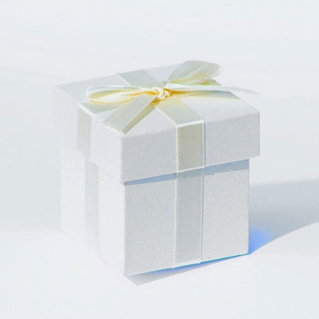 Wedding Favour Boxes with Cream Ribbon