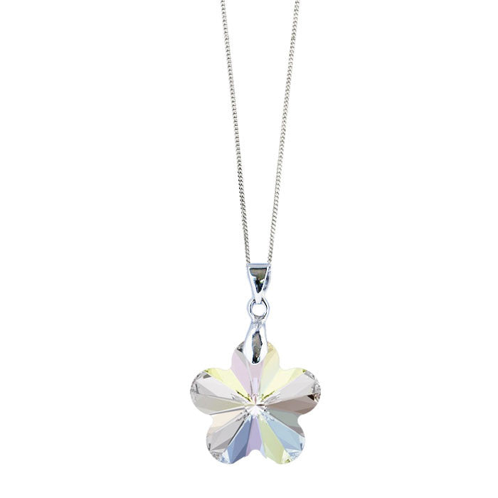 Crystal AB Flower Pendant by Love Lily