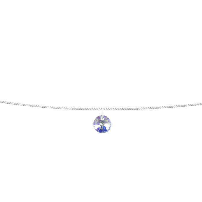 Crystal AB Xilion Sterling Silver Anklet