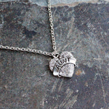 Ice Crystal Heart Aunt Pendant