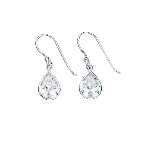 Crystal Raindrops Sterling Silver Earrings