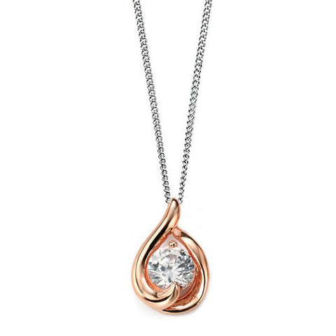 Crystallia Rose Gold Plated Pendant