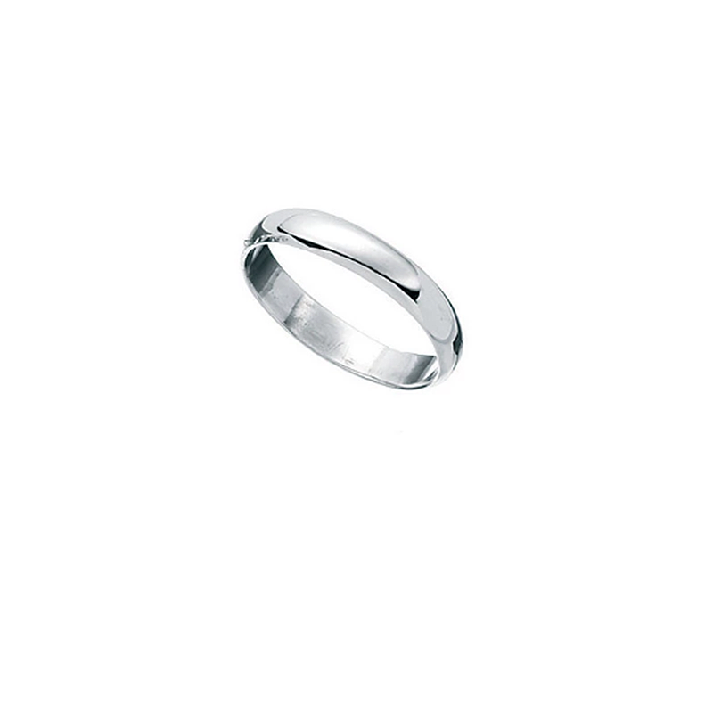 D Band Men's Silver Ring