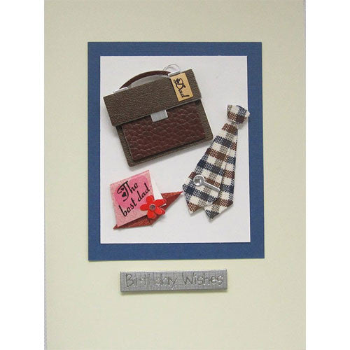 Briefcase Tie Dad Birthday Handmade Card
