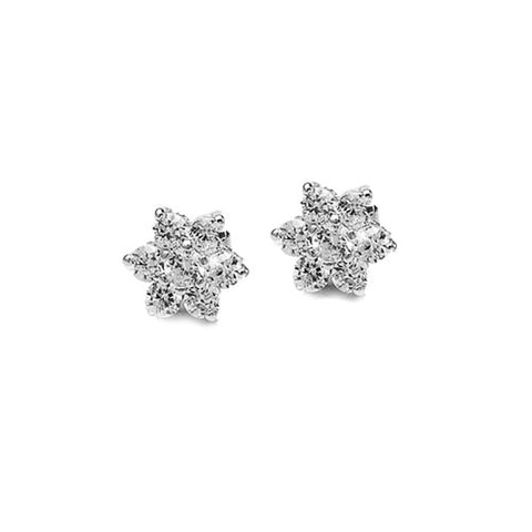 Daisy Crystal Flower Earrings