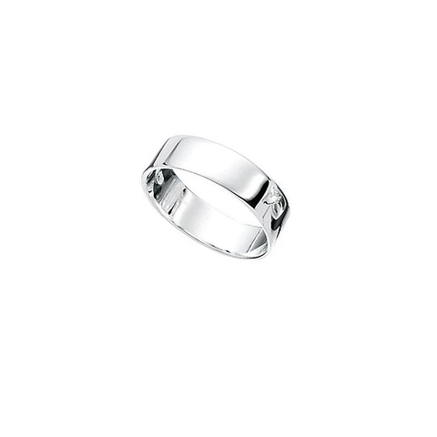 Dalton Square Cut Men's Silver Ring