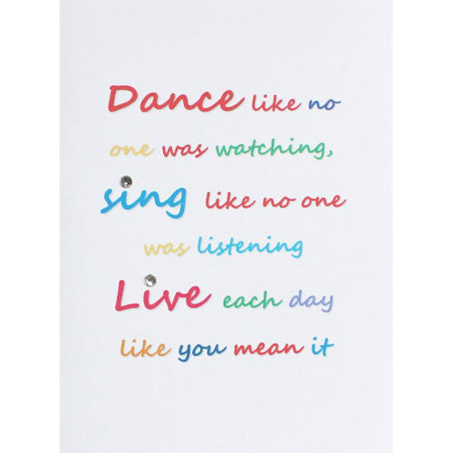 Dance and Sing Handmade Birthday Card
