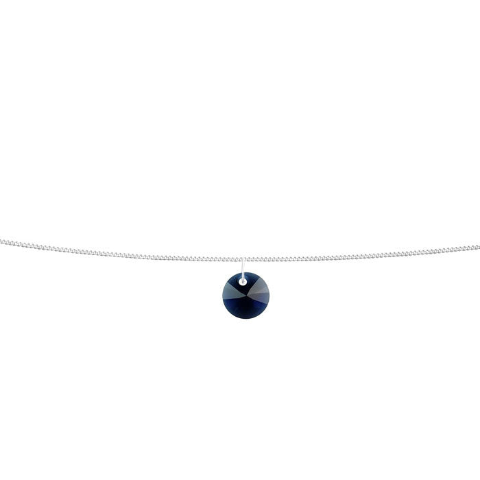 Sapphire Crystal Xilion Sterling Silver Anklet