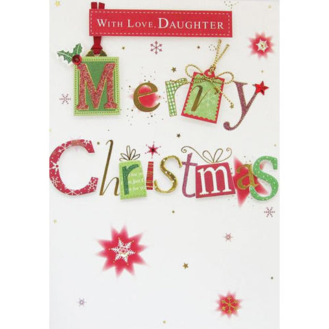 With Love Daughter Christmas Card