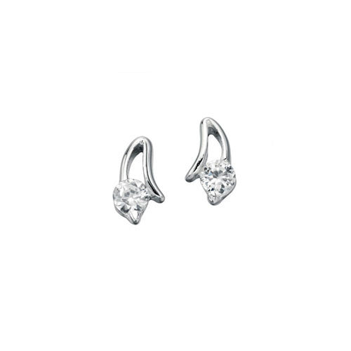 Dorchester Silver Earrings with Cubic Zirconia