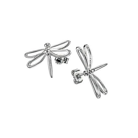Dragonfly Stud Silver Earrings