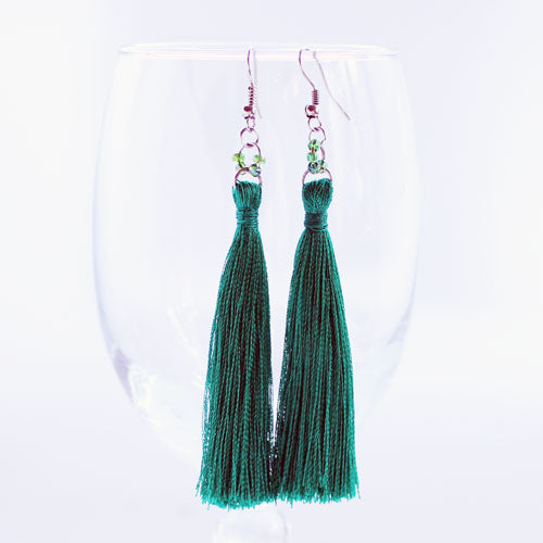 Emerald City Tassel Earrings