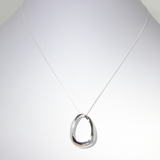 Endless Love Oval Silver Pendant