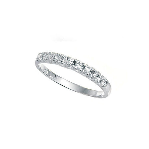 Ladies Sterling Silver Cubic Zirconia Half Eternity Ring