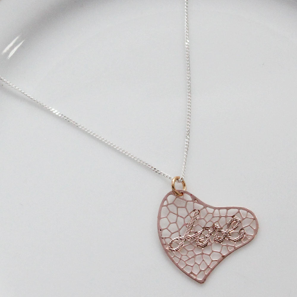 Every Love Story Rose Gold Plated Pendant