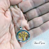 Family Tree of Life Silver and Gold Plated Pendant