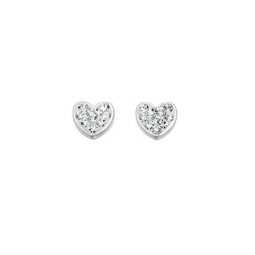 Sterling Silver Fantasy Heart Earrings