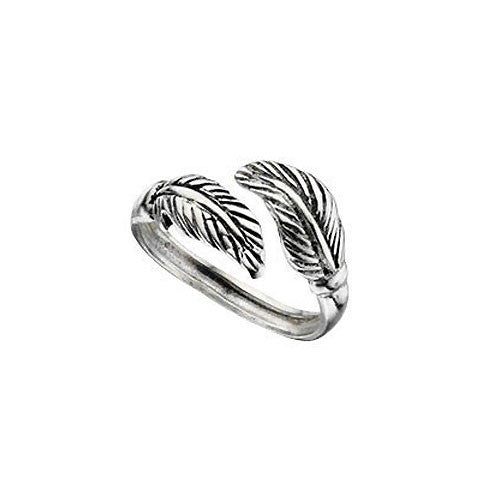 Feather Style Silver Toe Ring