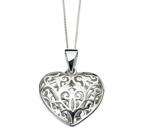 Filigree Pillow Heart Pendant