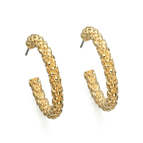 Textured Gold Circles Fiorelli Earrings