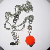 Bright Orange Bead Fiorelli Necklace