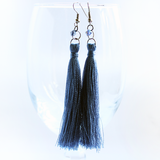 french blue tassel earrings